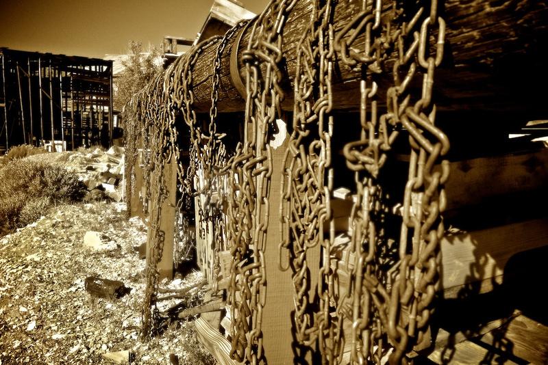 Hanging Chains - Cerro Gordo, CA - 2014