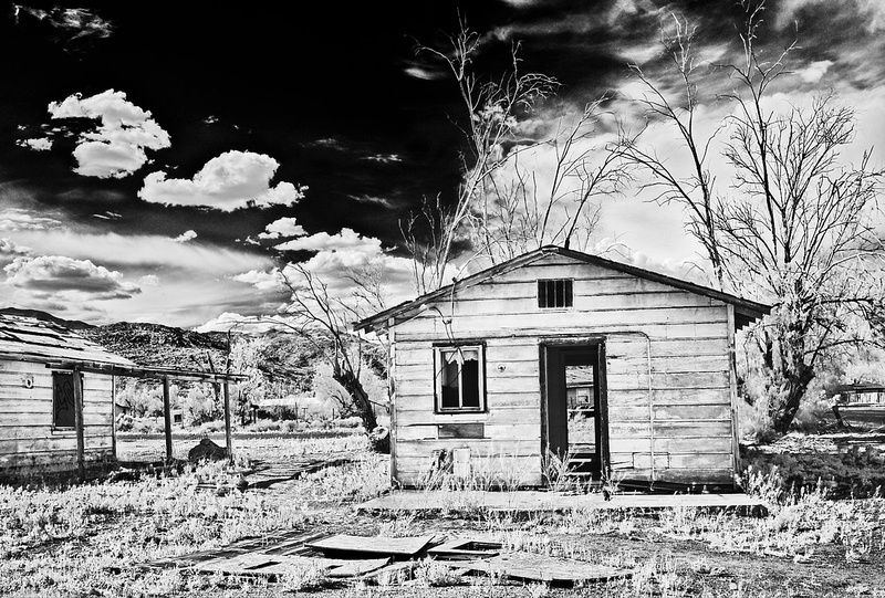 Small House with No Doors - Infrared Exposure - Argus, CA - 2015