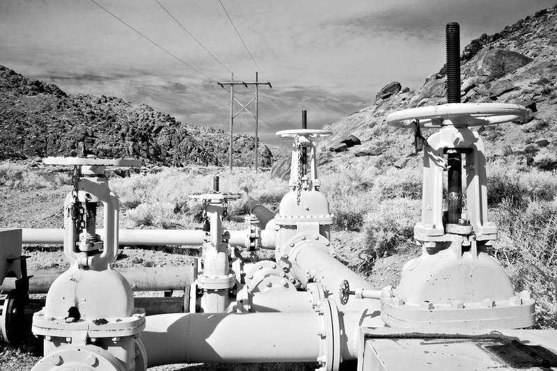 Water Throttling Valves & Power Lines - Poison Canyon, CA - 2015