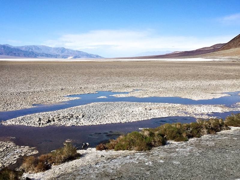 Facing North from Badwater Basin - Death Valley, CA - 2015