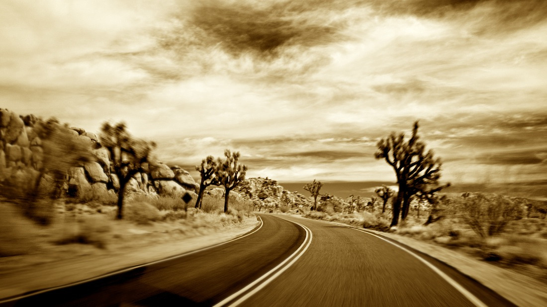 Paved Road #1 - Joshua Tree National Park - 2011