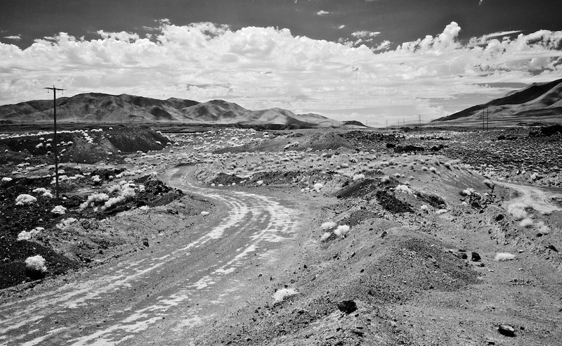 Dirt Road & Power Lines (Infrared) - Red Hill Quarry - Fossil Falls, CA - 2015
