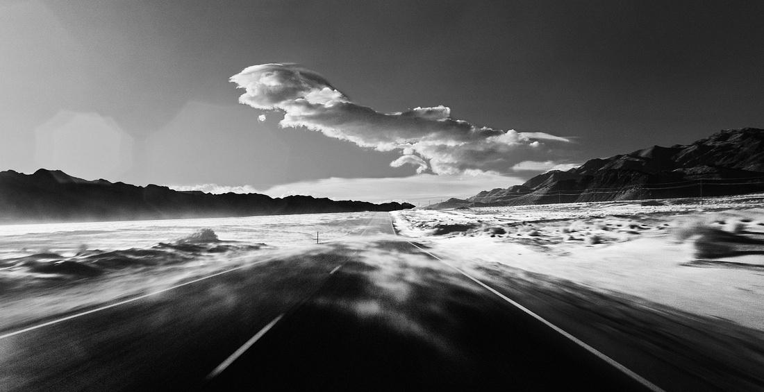 Wind Blown Sand - Highway 136 North of Keeler, CA - 2013