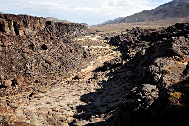 Basalt Flow from Atop Fossil Falls - Fossil Falls, CA - 2015