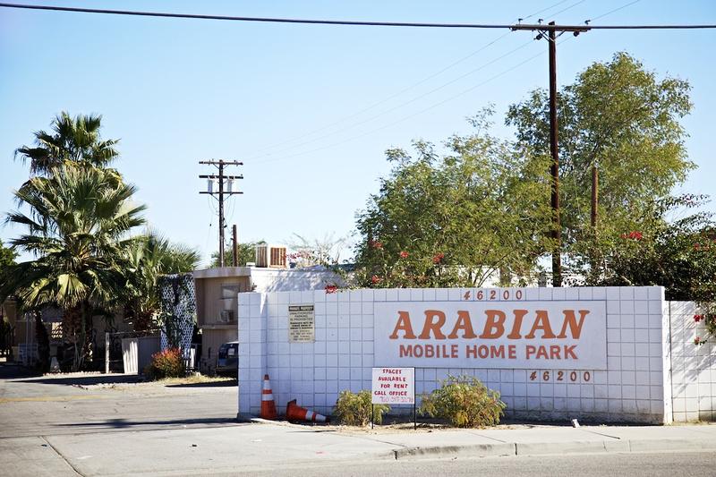 Arabian Mobile Home Park Entrance - Indio, CA - 2016