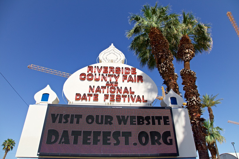 Riverside County Fair & National Date Festival Sign - Indio, CA - 2016