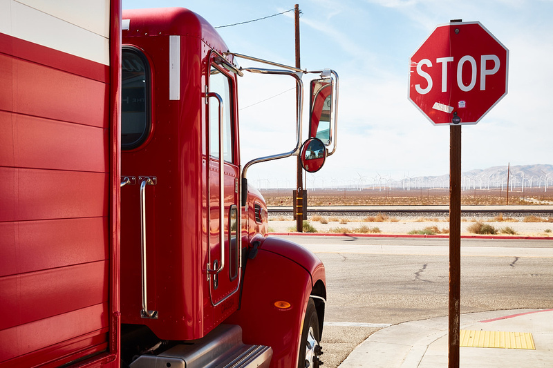 Budweiser Truck & Stop Sign – Mojave, CA – 2016