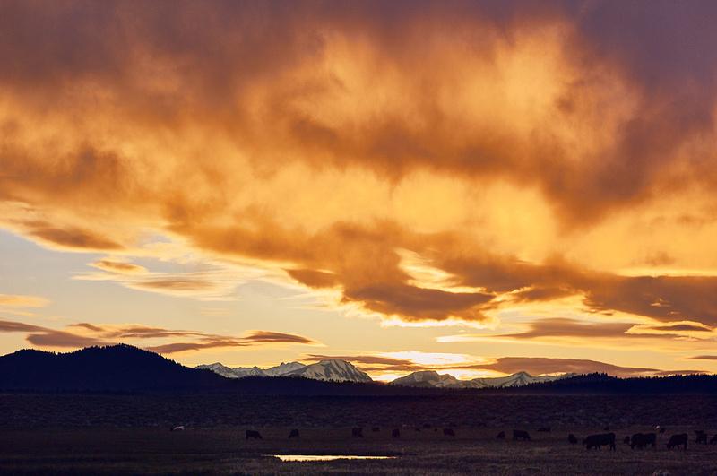 Long Valley Caldera – Sunset – Mammoth Lakes, California – 2011