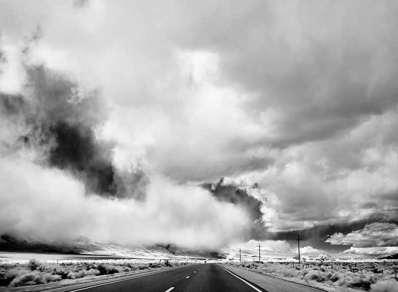 Low-Hanging Clouds – Highway 395 North of Lone Pine, California – 2021