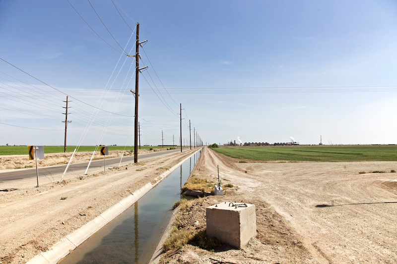 Irrigation Canal Near Thermal Plant - Niland, CA - 2014