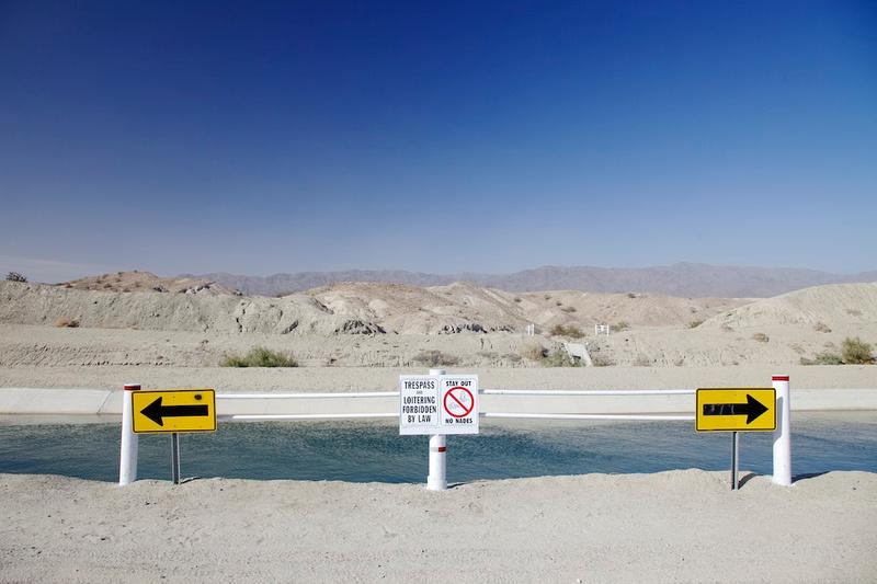 Arrows - Cochella Canal Near Salton Sea, CA - 2014