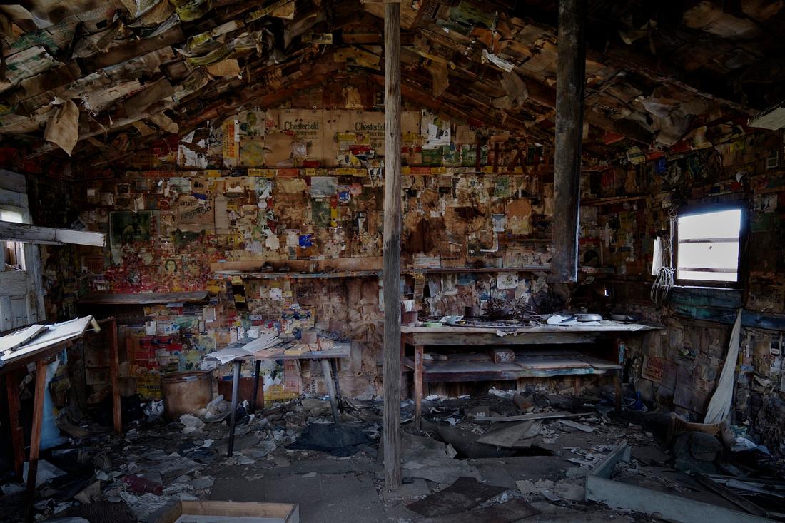 Interior 'Burro' Schmidt Cabin - Last Chance Canyon - 2011