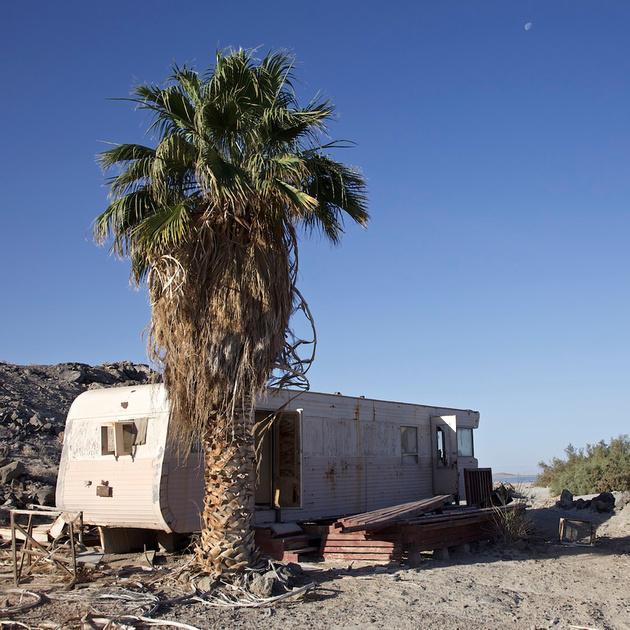 Abandoned Mobile Home off Red Hill Marina - Salton Sea, CA - 2014