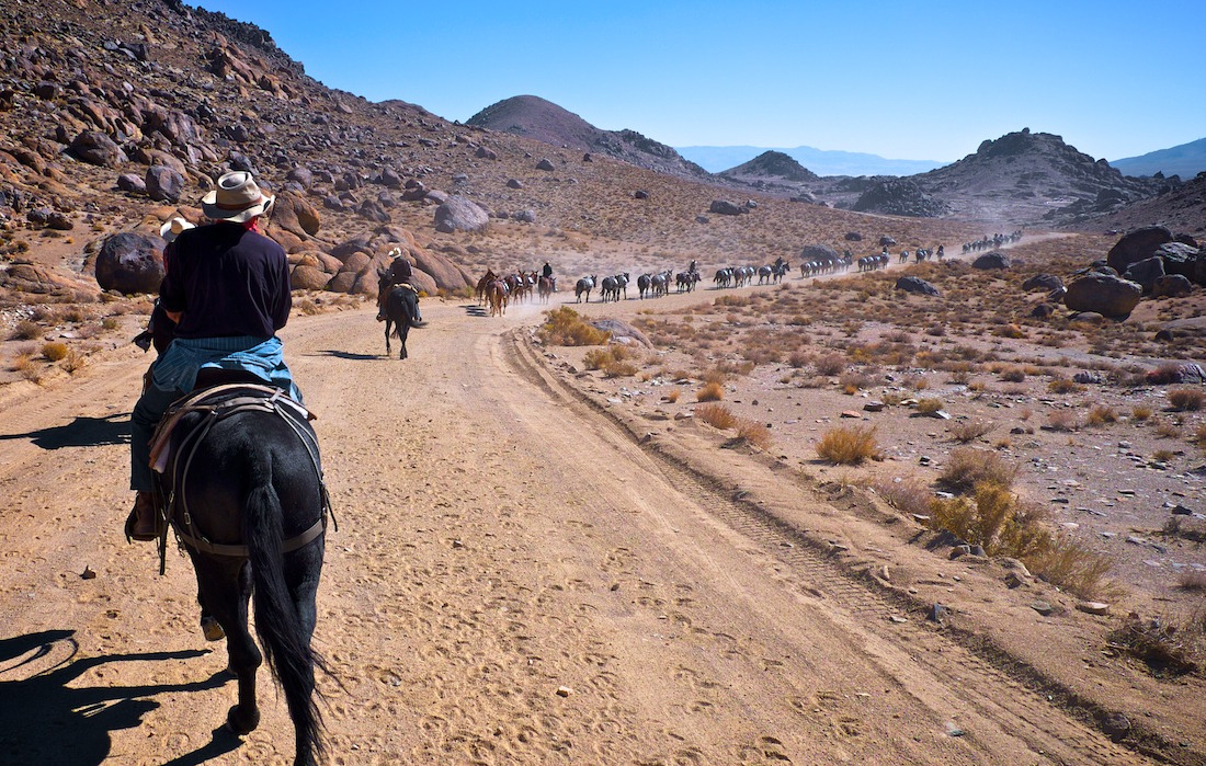 Author Christopher Langley rides along Movie Ranch Road - Alabama Hills, CA - 2013