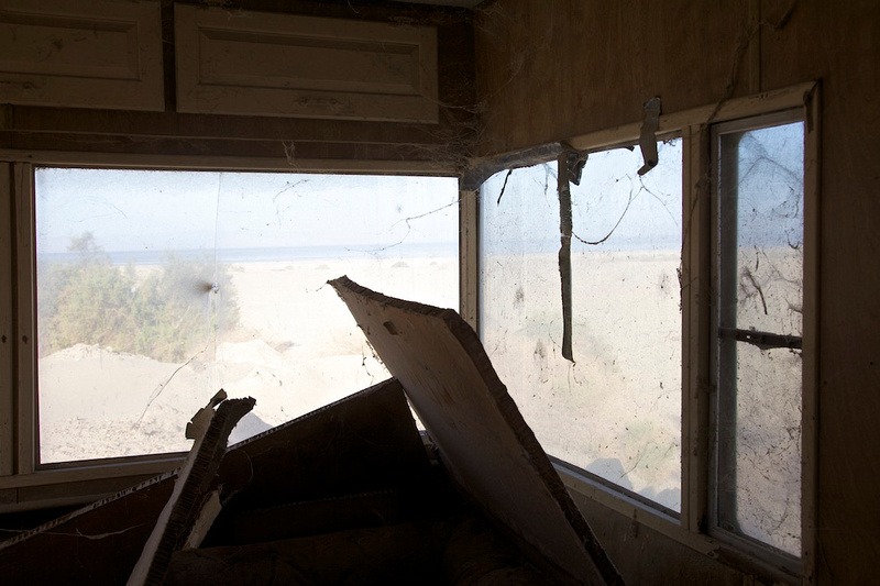 Window View - Abandoned Mobile Home - Salton Sea, CA - 2014
