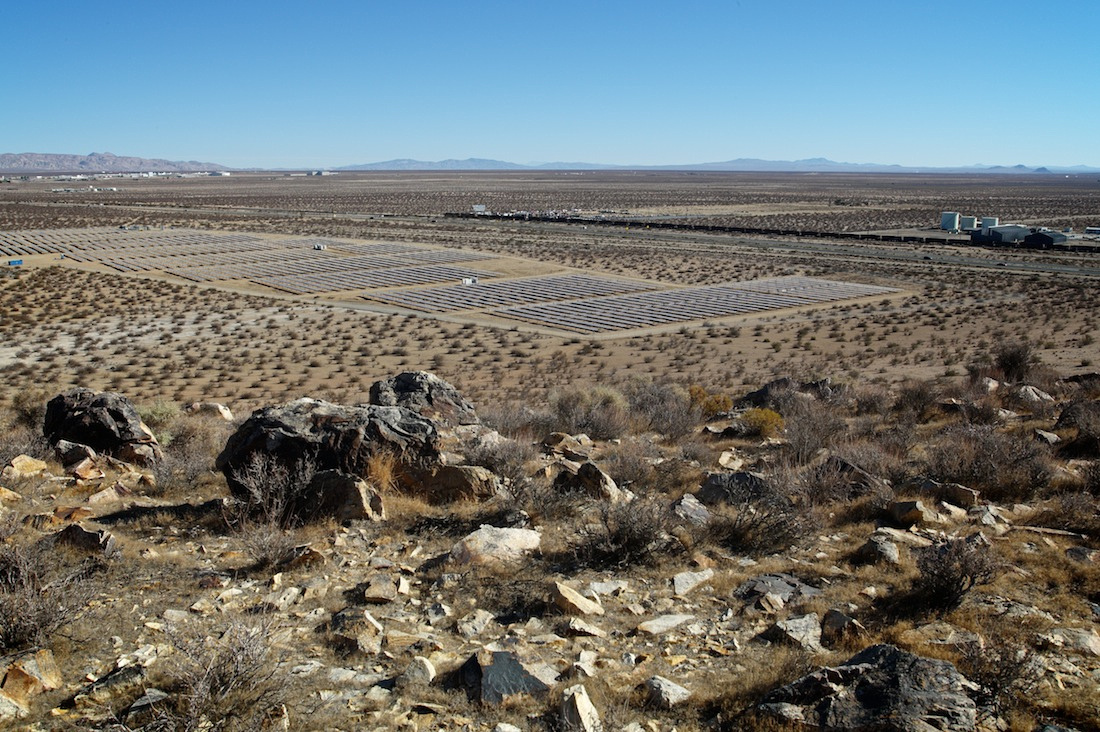 Solar Farm Viewed from Silver Queen Mountain - Mojave, CA - 2013