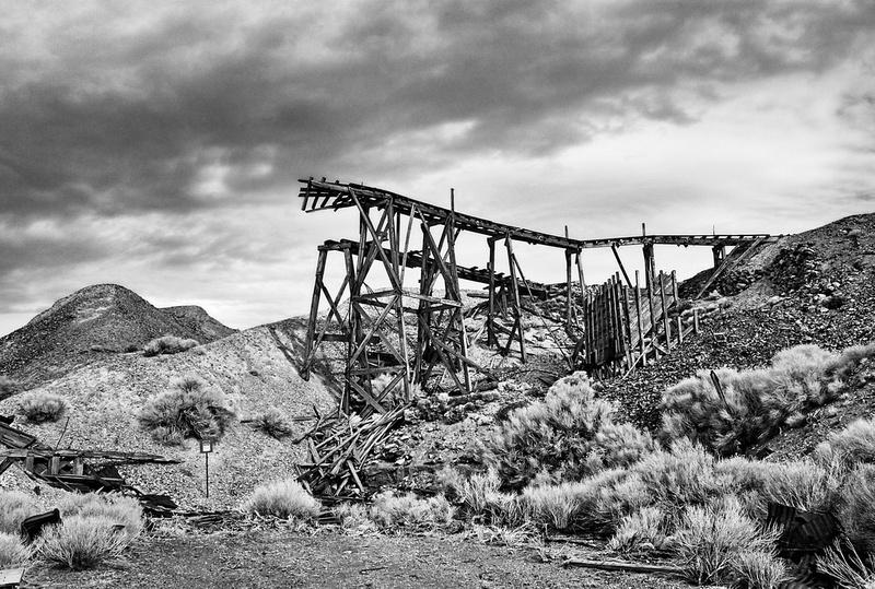 Tramway Ramp Remains No.1 - Infrared Exposure - Cerro Gordo, CA - 2012