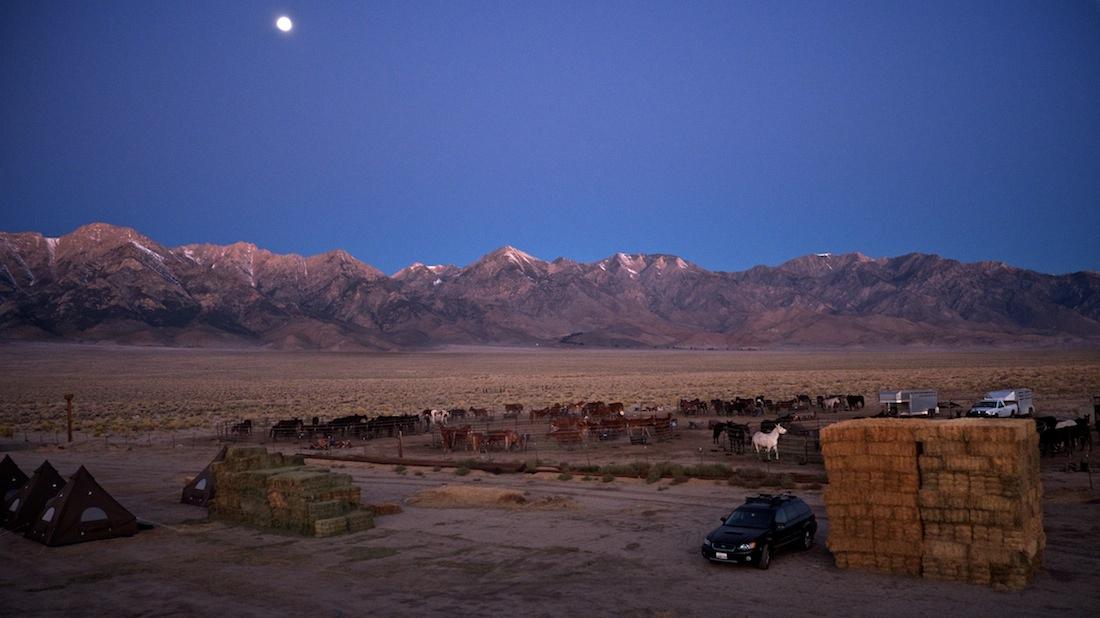 Dawn View from Atop Hay Bale Campsite - Eastern Sierra North of Manzanar, CA - 2013