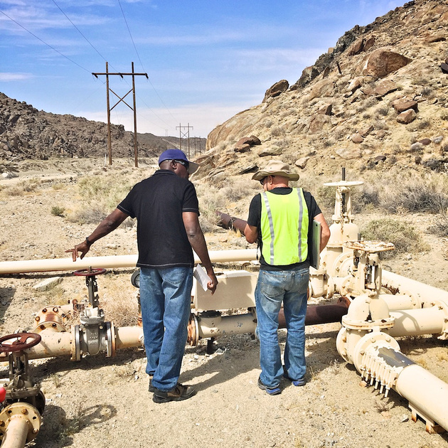 Henry Jones & Christopher Langley at Water Throttling Valves - Poison Canyon, CA - 2015