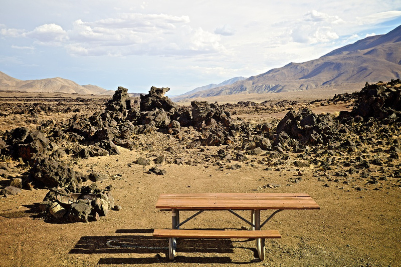Fossil Falls Campsite - off CA Highway 395 - 2015