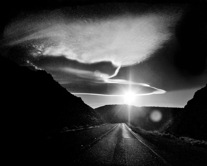 Leaving Trona - Infrared Exposure - CA Highway 178 - 2011