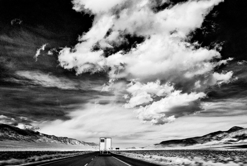Sky, Desert, Truck - Highway 395 Near Coso Junction, CA - 2012