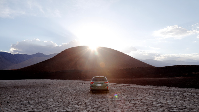 Dry Lake Bed with Sunset Behind Red Hill (Location Still) - Fossil Falls, CA - 2015