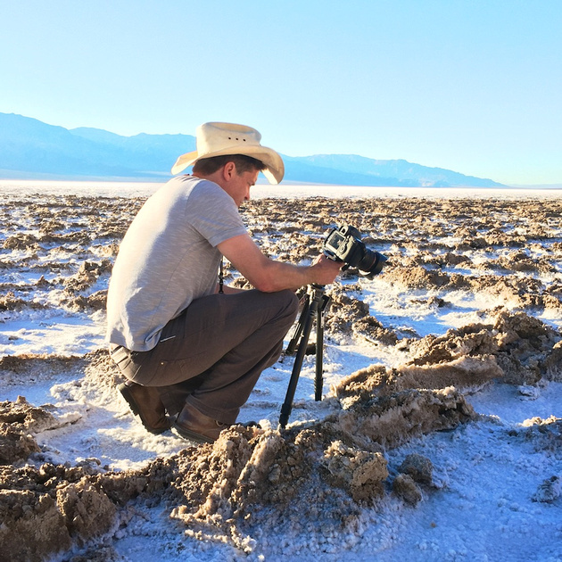 Osceola Refetoff Photographs Salt Formations at Badwater Basin - Death Valley, CA - 2015