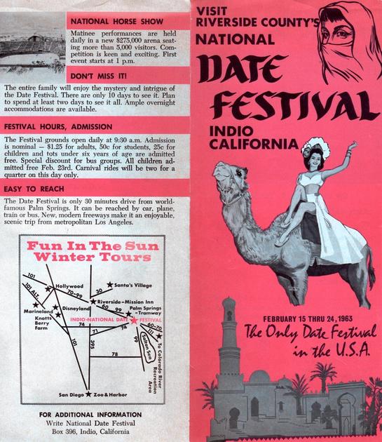 Vintage National Date Festival Brochure - Indio, CA