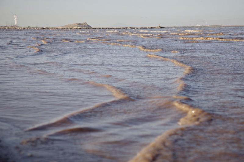 Waves off Red Hill Marina - Salton Sea, CA - 2014