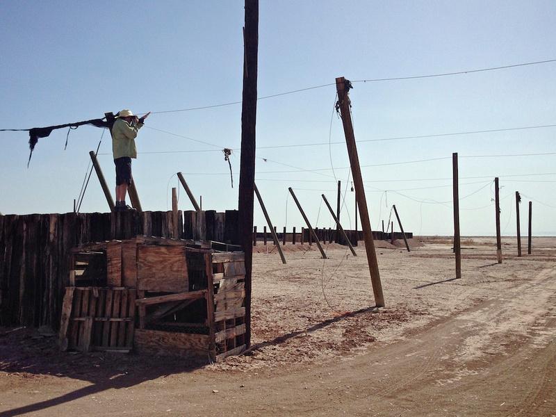 Photographer on Desert Ruin - Salton Sea, CA - 2014 - Photo: Christopher Langley