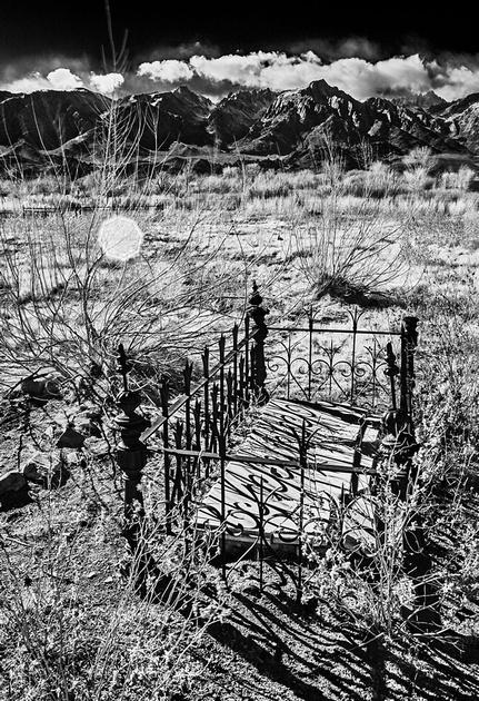 Grave of Rafael Diaz d 188? - Infrared Exposure - Pioneer Cemetery - Lone Pine, CA 2013