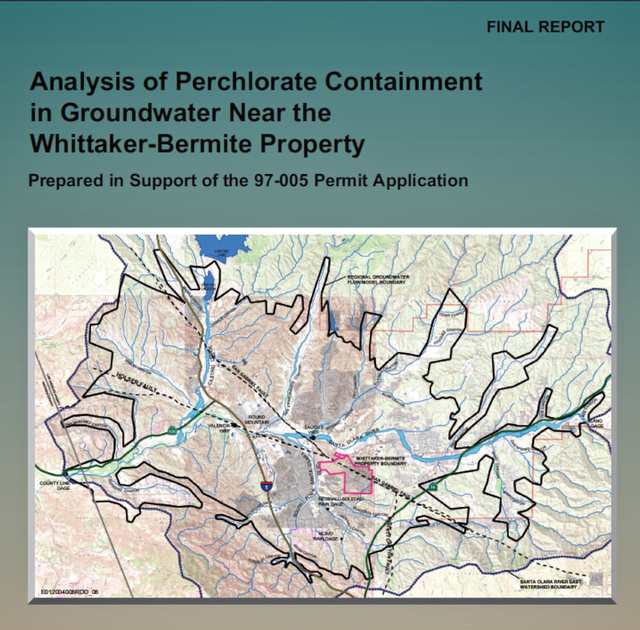Analysis of Perchlorate Containment by CH2M HILL – 2004