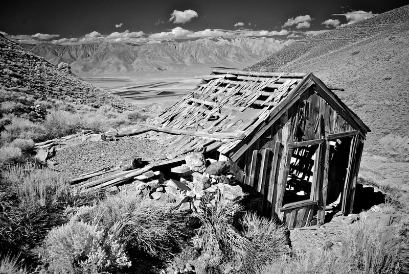 Falling Down House on the Hill - Cerro Gordo, CA - 2014
