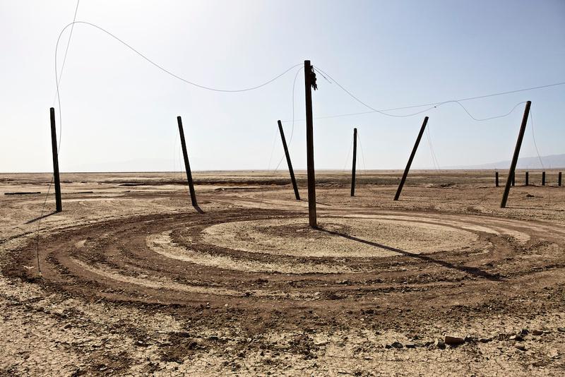 Dirt Circle with Poles No.1 - Salton Sea, CA - 2014