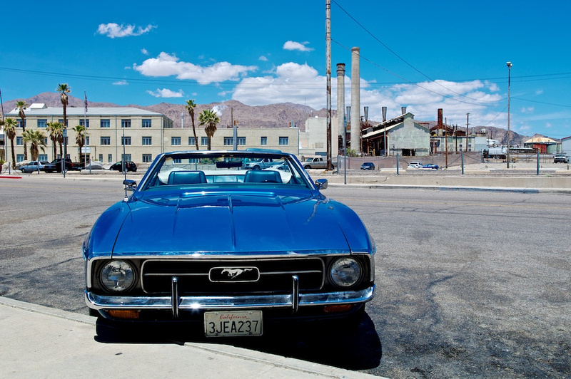 1971 Ford Blue Mustang Convertible - Trona, CA - 2015