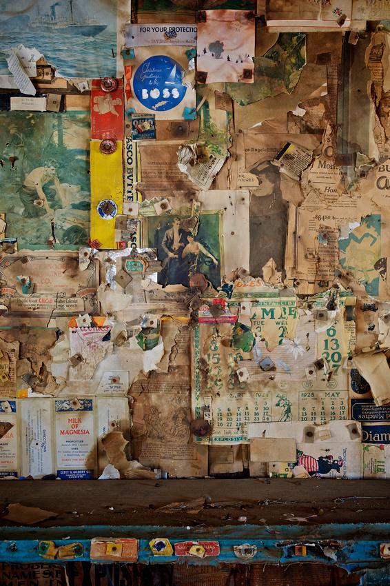 """Depression Era Wallpaper""- 'Burro' Schmidt Cabin - 2011"