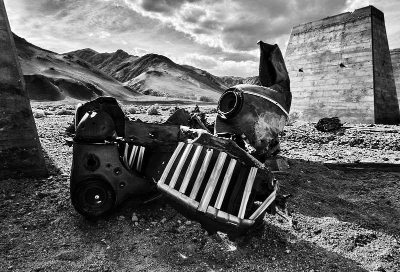 Resting  Place - Abandoned Kaiser Plant - Owens Lake, CA - 2016